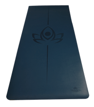 Oasis Extreme Grip Natural Rubber Yoga Mat - Midnight Blue - TranquilYogi