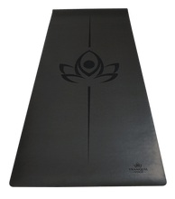 Oasis Extreme Grip Natural Rubber Yoga Mat - Charcoal - TranquilYogi