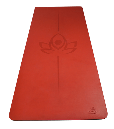 Oasis Extreme Grip Natural Rubber Yoga Mat - Chilli - TranquilYogi