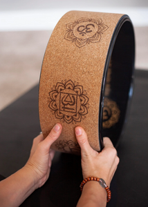 Enlighten Yoga Wheel - Cork or Rubber Top, Excellent for expanding your Yoga Practice - TranquilYogi