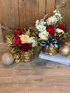 Golden Holiday Arrangement