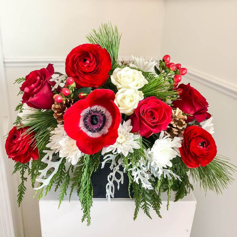 Christmas Flower Workshop In Person + Virtual Options