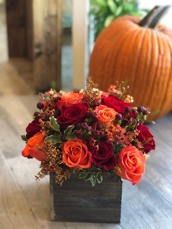 Autumn Leaves - Rose Box