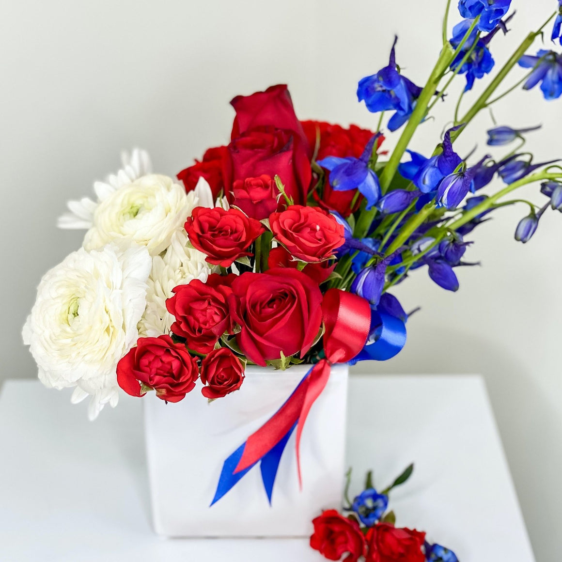 May 22, 2020 Red White & Blue Virtual Flower Workshop