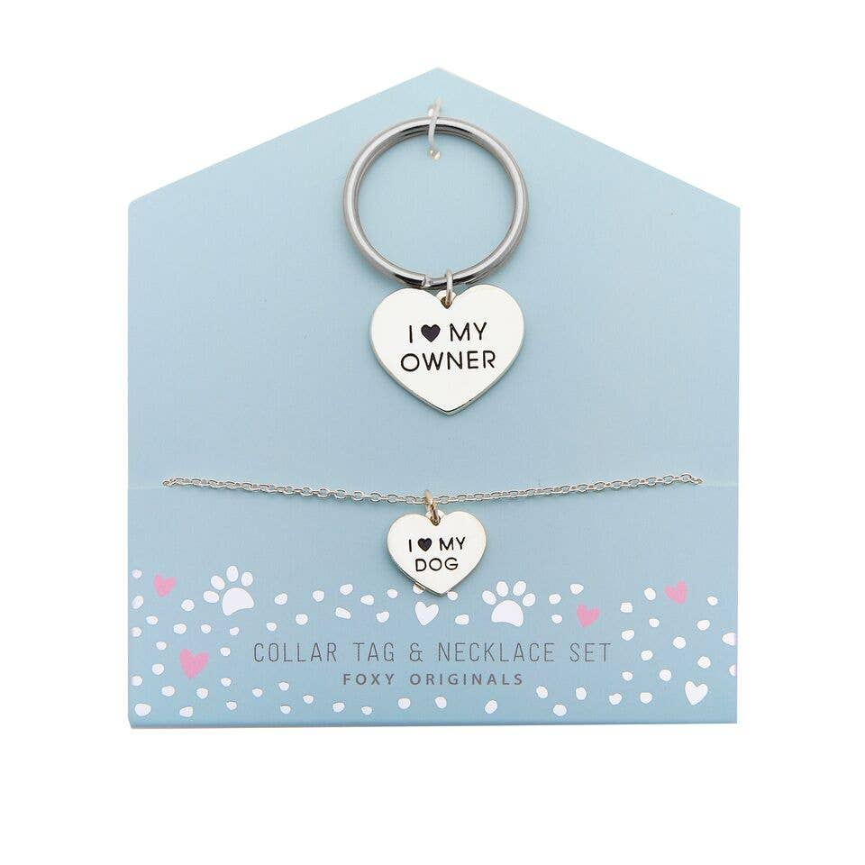 Woof & Whiskers - Dog Lover Necklace And Collar Tag