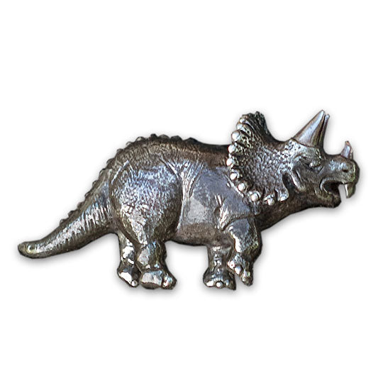 An Intrepid Triceratops Brooch
