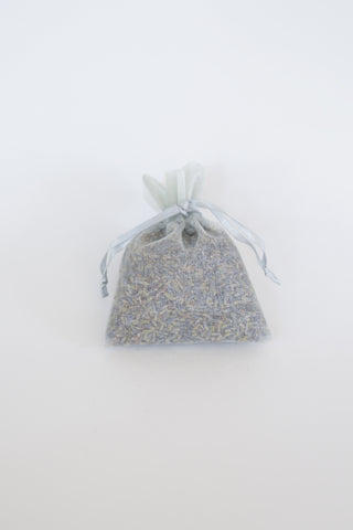 Organic Lavender Blossom Filled Sachet Silver Grey