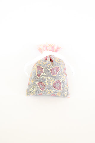 Organic Lavender Blossom Filled Sachet Heart of Gold