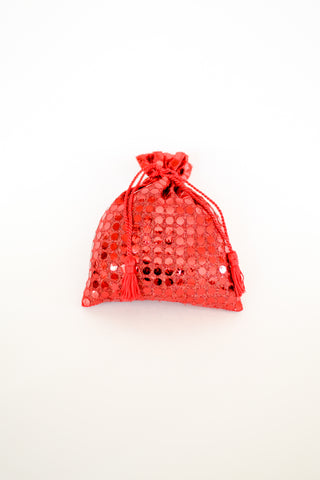 Organic Lavender Blossom Filled Sachet Red Sparkle Sequin