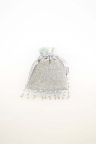 Lavender Sachet Jeweled Velvet Moonlight Silver