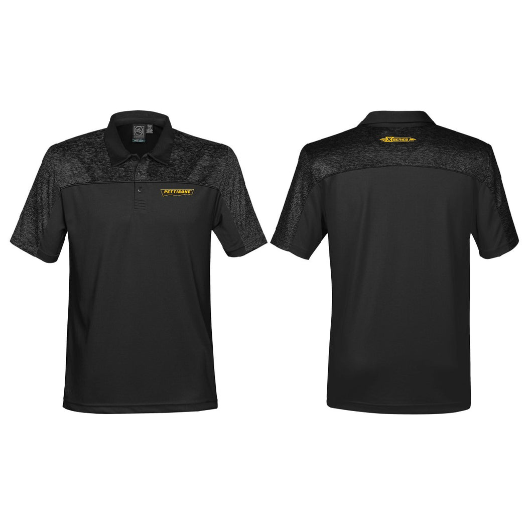 Men's Carbon Heather/Black H2X-DRY Polo
