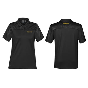 Women's Carbon Heather/Black H2X-DRY Polo