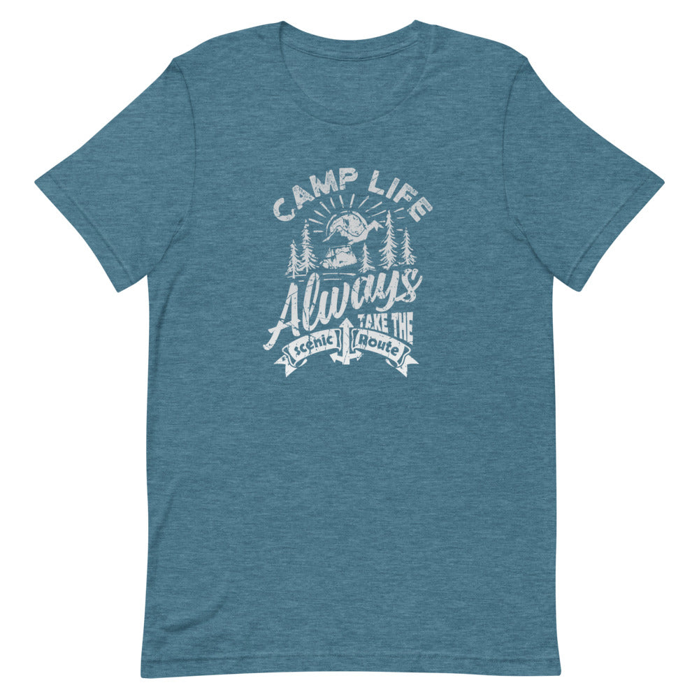 Camp Life Always Take the Scenic Route | Choose Heather Black/Orchid/Teal