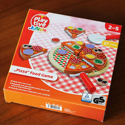 Wooden Pizza Slicing Game  - kidgenius education toys