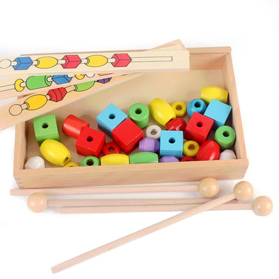 Wooden Sliding Beads with Patterns MATH - kidgenius education toys