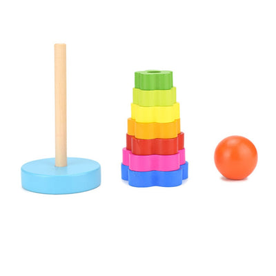 Colorful Wooden Tower COGNITION - kidgenius education toys