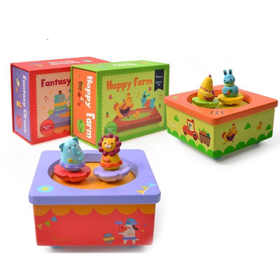 Wooden Music Box - Animal Edition MUSIC - kidgenius education toys