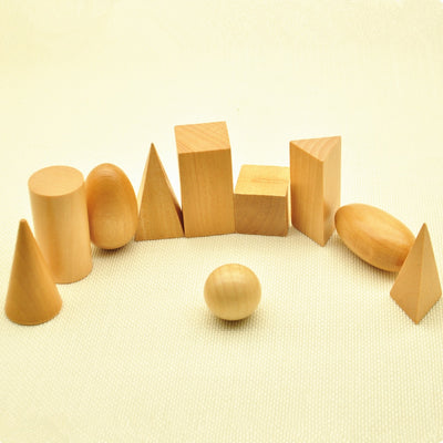 Wooden Geometric Shape Set MATH - kidgenius education toys