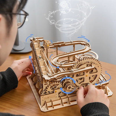 DIY Wood Marble Run Building Block Kits