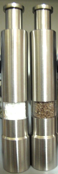 Salt & pepper grinders for restaurant  Contact maisoncote@telus.net for pricing
