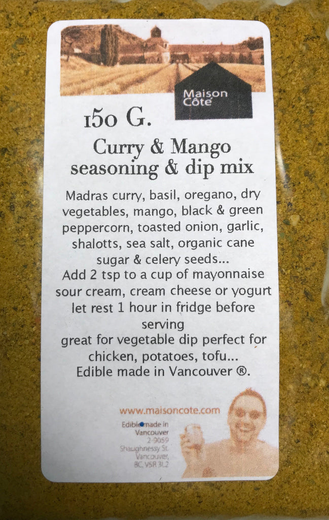 Curry & Mango Seasoning & dip mix