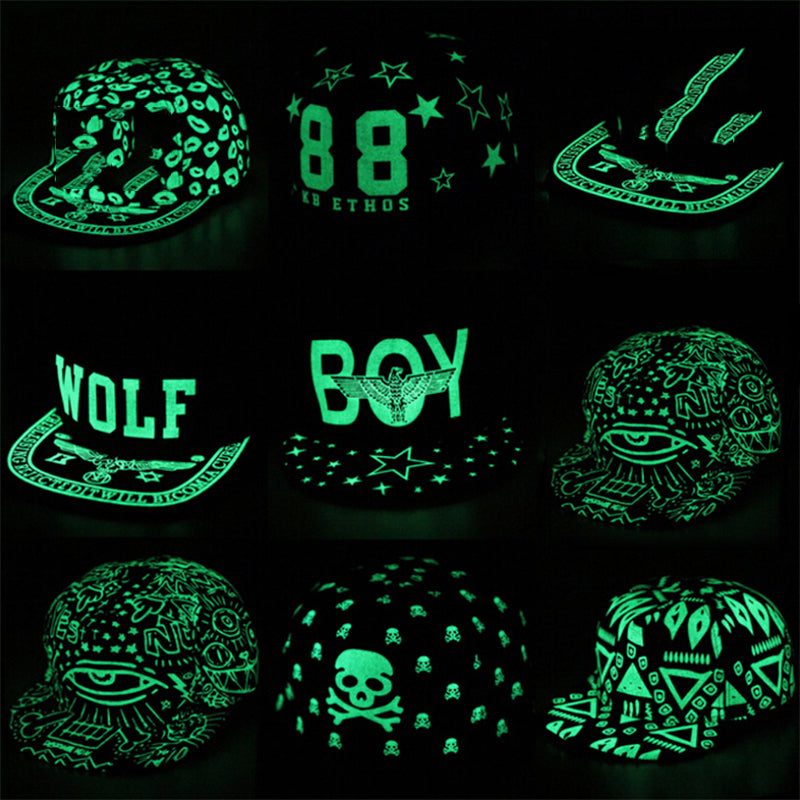 Graffiti Fluorescent Light Luminous Snapback Caps