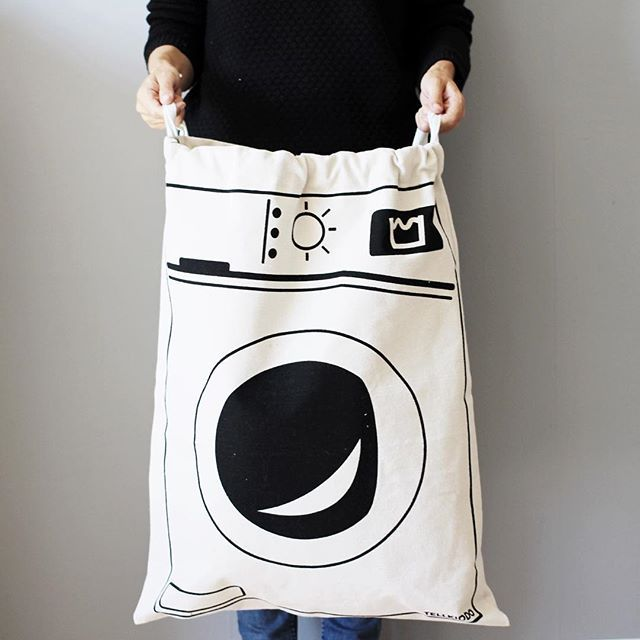 Canvas Printed Laundry Bag