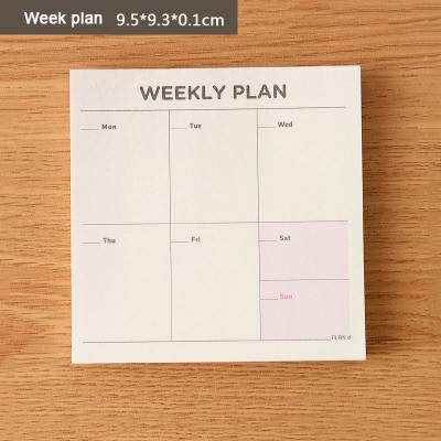Weekly Planner Post It Notes
