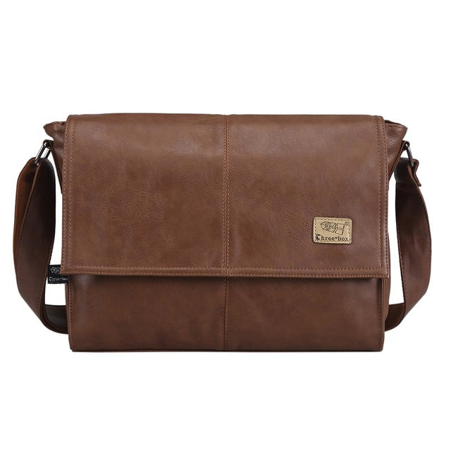 Mens Leather Laptop Satchel