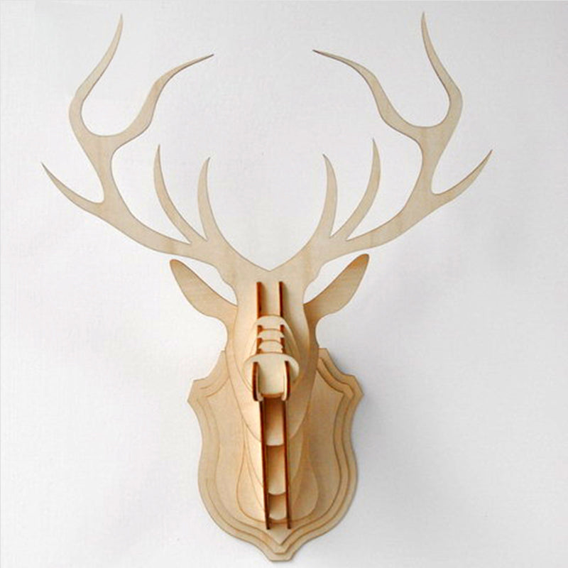 Wooden Kitset Deer Head