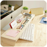 Wooden desk organiser