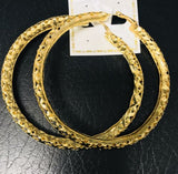 Gold Hoop Earrings With Heart Cut Outs