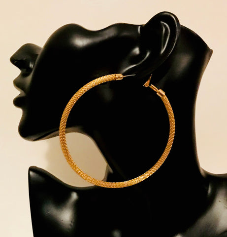 Big Gold Hoop Earring