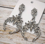 Silver Long Bling Dangle Earrings Gothic New Arrival
