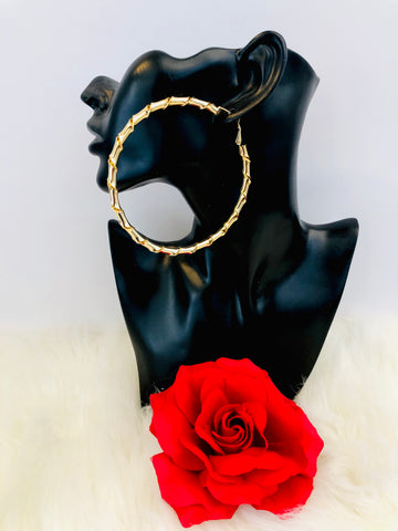 """Twisted Hoop"" Gold Hoop Earrings"