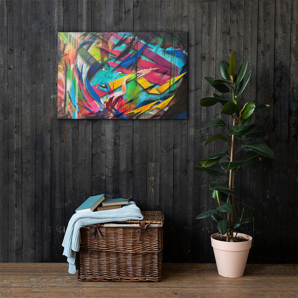 Instant Transmission canvas print
