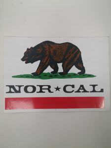 Sticker Nor Cal 12.8x9 cm