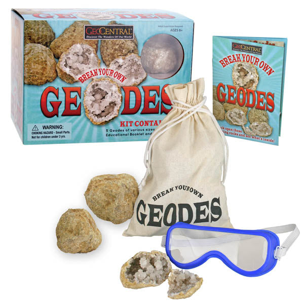 Break Your Own Geodes Kit - Unique Gift For Young Kids Under 12