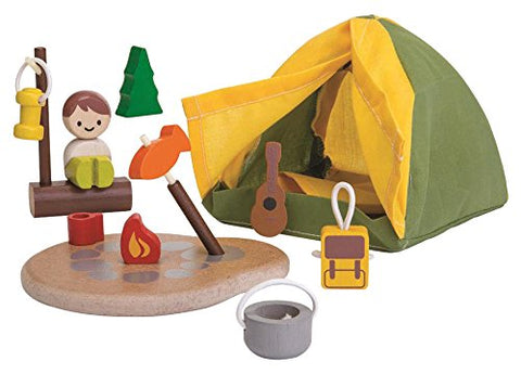 PlanToys Camping Play Set, green, eco friendly, unique, quirky, gift