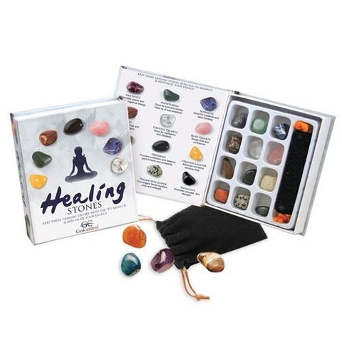 Gemstone Healing Stones Kit  Gift Set