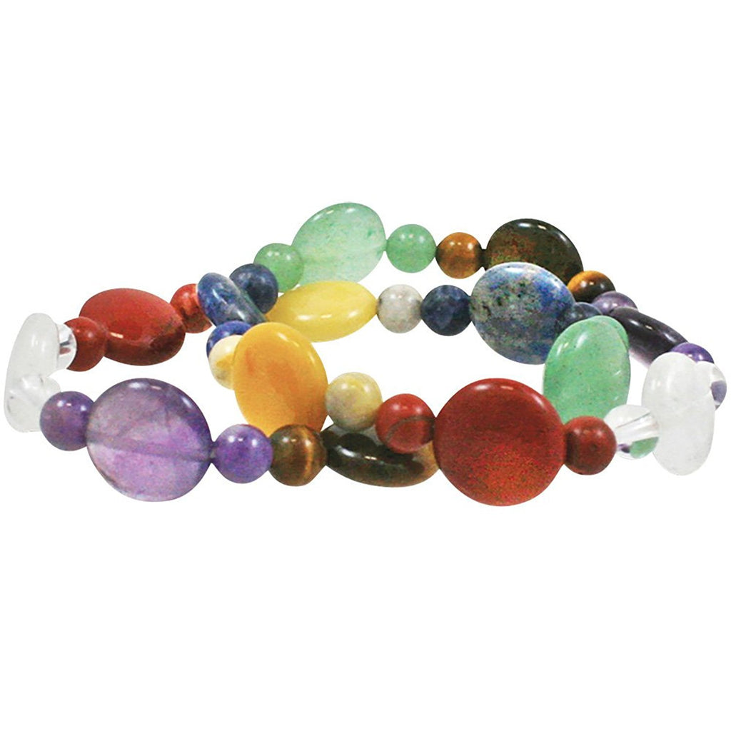 Chakra Beaded Stretch Bracelet - Unique Inspirational Gift