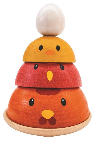 Plan Toys Chicken Nesting, unique gift, wood toy, eco-friendly