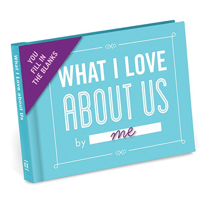 I Love About Us is a Fill in The Love Journal which make a unique gift