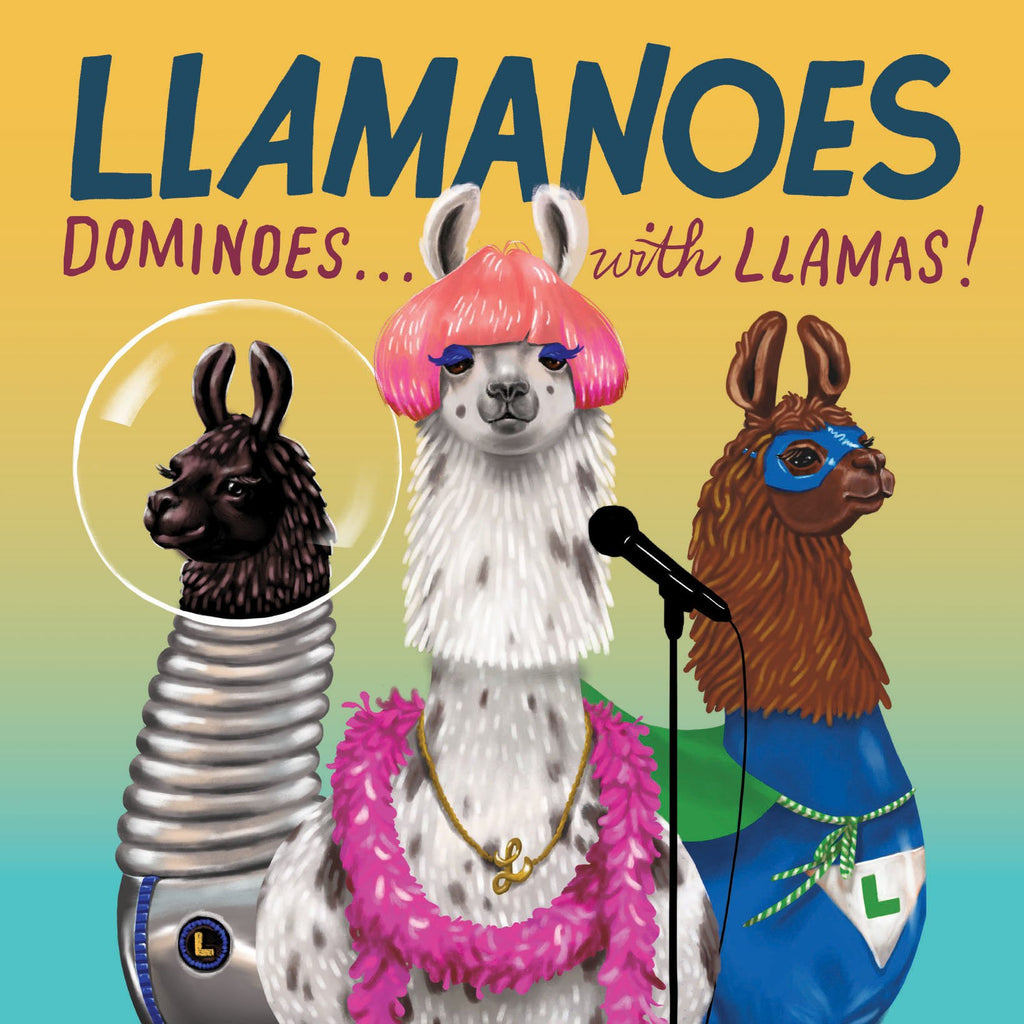 Llamanoes: unique gift, quirky, game, dominoes