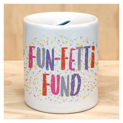 Fun unique ceramic savings bank for kids and family