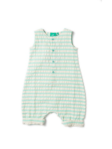 Pale Turquoise Seersucker Playsuit