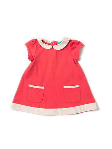 Organic cotton kids clothing red dress