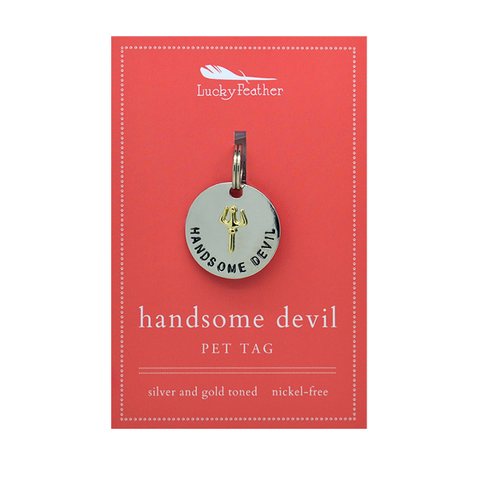 Handsome Devil Pet Tag