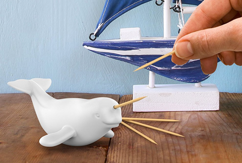 Fred POLAR PICKS Ceramic Toothpick Dispenser: unique gift idea!