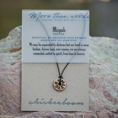 unisex Necklace, Mizpah - A bond between people who are separated